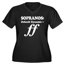 Soprano Music Attitude Women's Plus Size V-Neck Da