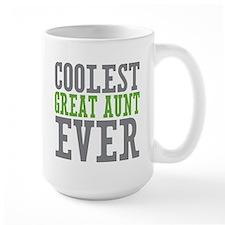 Coolest Great Aunt Large Mug