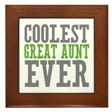 Coolest Great Aunt Framed Tile