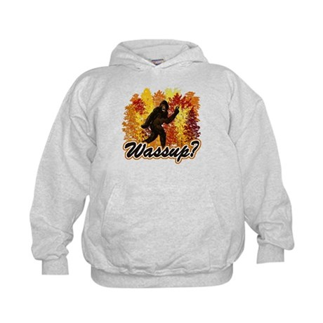 Whats Up Bigfoot Sasquatch Kids Hoodie