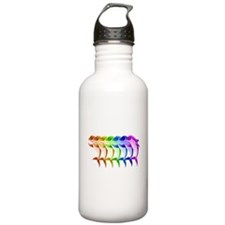 Rainbow Dolphins Water Bottle