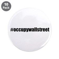 "#occupywallstreet 3.5"" Button (10 pack)"
