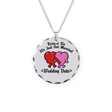 Funny Just Married (Add Wedding Date) Necklace