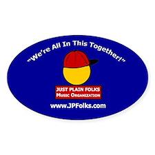 Blue Oval JPF Logo Decal