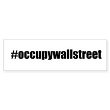 #occupywallstreet Bumper Sticker