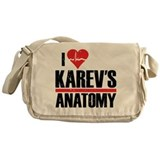 I Heart Karev's Anatomy Canvas Messenger Bag