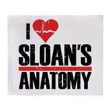 I Heart Sloan's Anatomy Throw Blanket