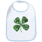 Lucky 4 Leaf Clover Irish Bib