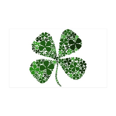 Lucky 4 Leaf Clover Irish 38.5 x 24.5 Wall Peel