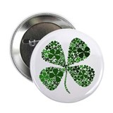 "Lucky 4 Leaf Clover Irish 2.25"" Button (100 pack)"