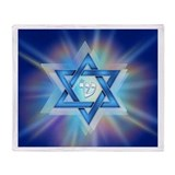 Radiant Magen David Throw Blanket