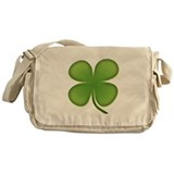 Lucky Irish Four Leaf Clover Messenger Bag