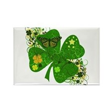 Lucky Irish Four Leaf Clover Rectangle Magnet