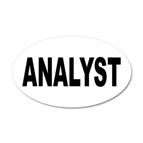 Analyst 38.5 x 24.5 Oval Wall Peel