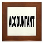 Accountant Framed Tile