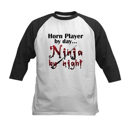 French Horn Ninja Kids Baseball Jersey