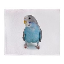 Blue Parakeet Throw Blanket
