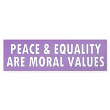 peace equality... Bumper Bumper Sticker