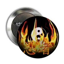 "Ninja in Fire 2.25"" Button (100 pack)"