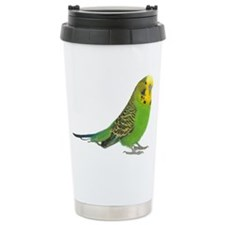 Green Parakeet Ceramic Travel Mug