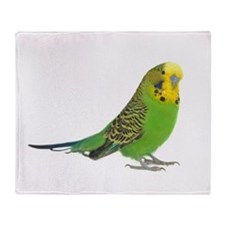 Green Parakeet Throw Blanket