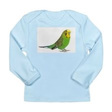 Green Parakeet Long Sleeve Infant T-Shirt