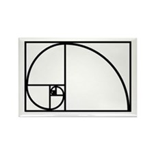 Funny Math fractal Rectangle Magnet