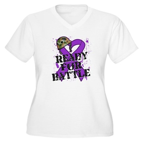 Battle Pancreatic Cancer Women's Plus Size V-Neck