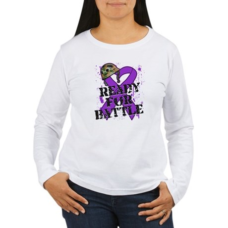Battle Pancreatic Cancer Women's Long Sleeve T-Shi