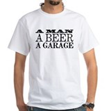A Man, A Beer, A Garage Shirt