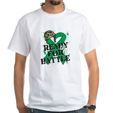 Battle Liver Cancer White T-Shirt