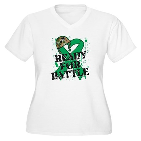 Battle Liver Cancer Women's Plus Size V-Neck T-Shi