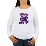 Battle Leiomyosarcoma Women's Long Sleeve T-Shirt