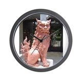Red Shisa Wall Clock