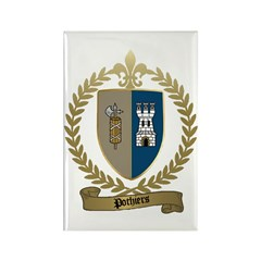 POTHIERS Family Crest Rectangle Magnet