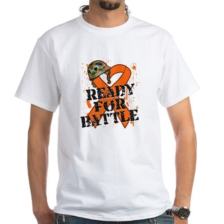Battle Kidney Cancer White T-Shirt