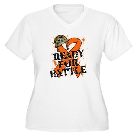 Battle Kidney Cancer Women's Plus Size V-Neck T-Sh