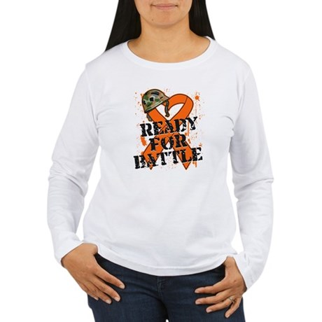 Battle Kidney Cancer Women's Long Sleeve T-Shirt