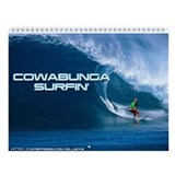 Cowabunga Surfin' Wall Calendar