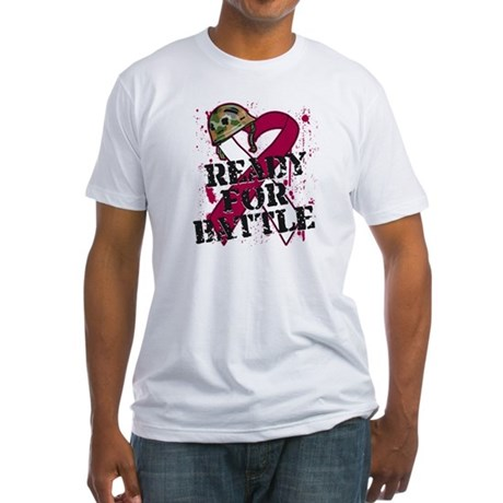 Battle Head and Neck Cancer Fitted T-Shirt