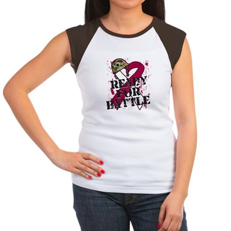 Battle Head and Neck Cancer Women's Cap Sleeve T-S