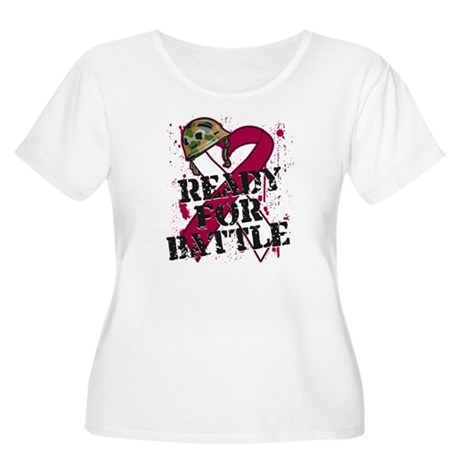 Battle Head and Neck Cancer Women's Plus Size Scoo