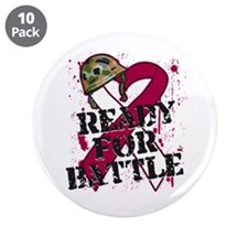 "Battle Head and Neck Cancer 3.5"" Button (10 pack)"
