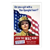 WAC Star-Spangled Heart Postcards (Package of 8)