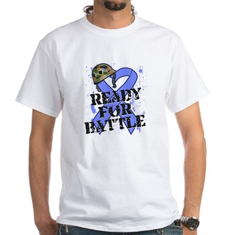 Battle Esophageal Cancer White T-Shirt