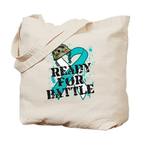 Battle Cervical Cancer Tote Bag