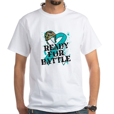 Battle Cervical Cancer White T-Shirt