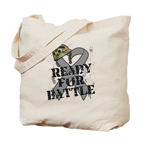 Battle Brain Cancer Tote Bag