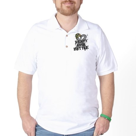 Battle Brain Cancer Golf Shirt