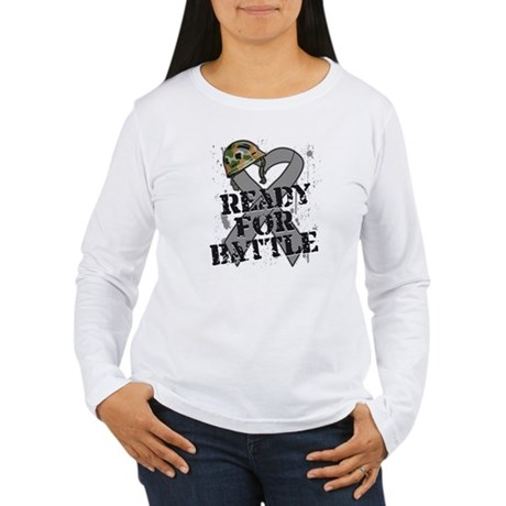 Battle Brain Cancer Women's Long Sleeve T-Shirt